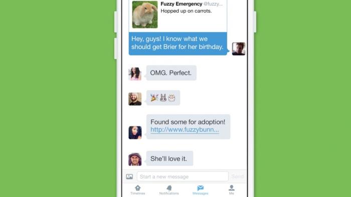 Twitter добавил чаты и видео реклама