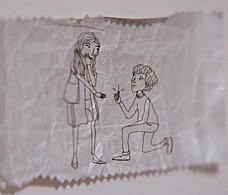 Жвачка связала двух влюбленных в рекламе