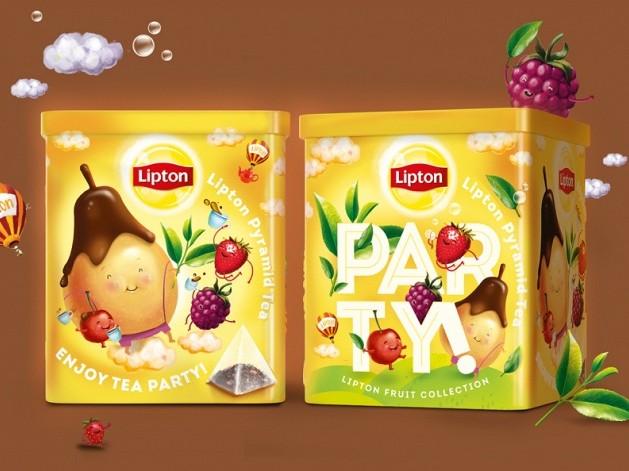 Чайная вечеринка на упаковке Lipton