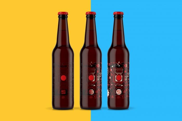 Упаковка пива Red Button Brew оживает после охлаждения