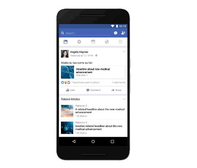 Facebook предложит ссылки на проверенные источники