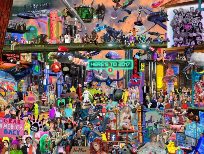 Основные события 2017 года изобразили наодном рисунке