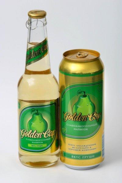 ...производство слабоалкогольного коктейля Golden Cap с грушевым вкусом.