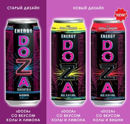"""Энергетический коктейль DOZA от Компании  """"БРАВО Премиум """""""