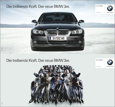 bmw advertisement analysis Analysis of automobile advertisements in american  analysis of automobile advertisements in american magazines  advertisement focuses on a different.