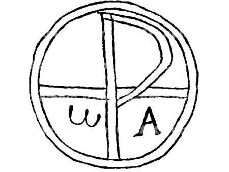 Christian monogram from the Roman catacombs
