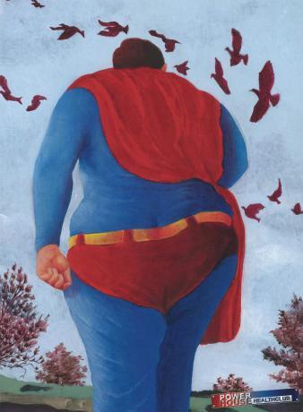 Потолстевшие герои комиксов