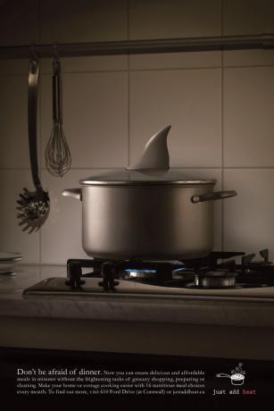 Реклама готовых обедов Just Add Heat