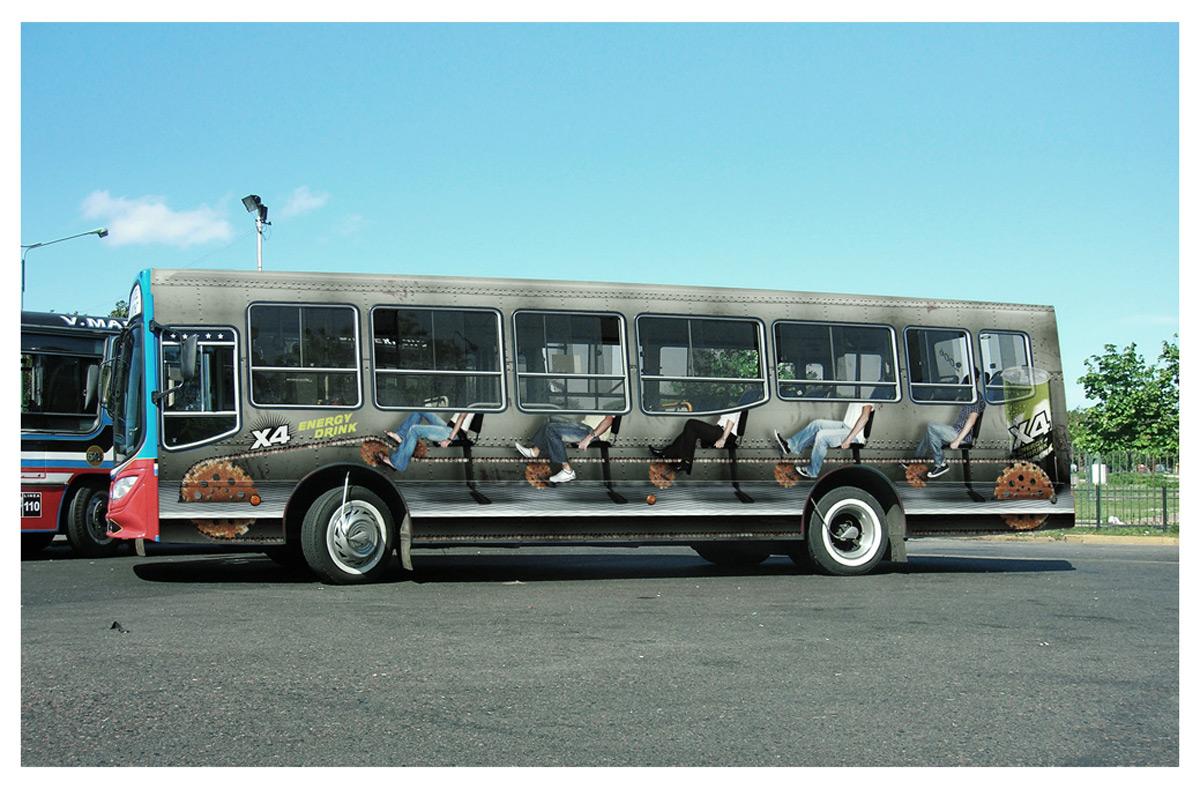 Стильная реклама автобусов фото