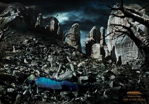Реклама спальных мешков Ferrino