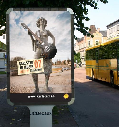 В Карлстаде появилась статуя-гитаристка