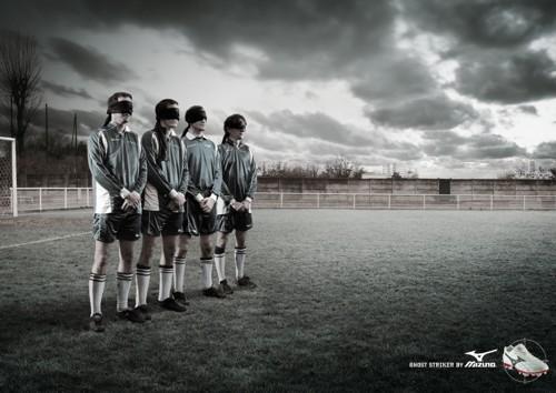 Принт Футболисты для Mizuno от Callegari Berville Grey