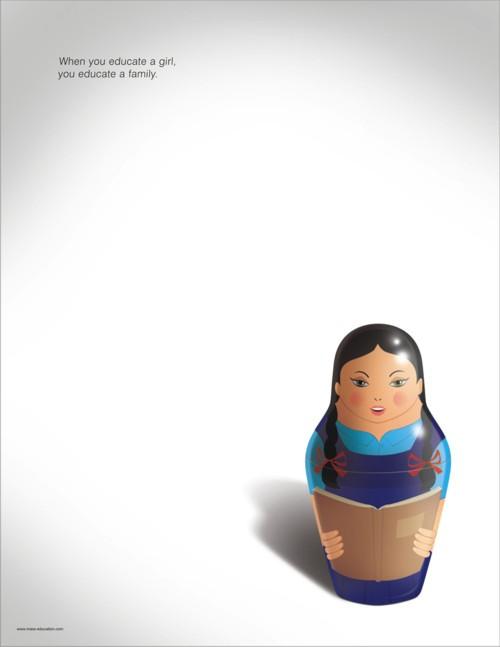 Плакат от Triton Communications для www.mass-education.com