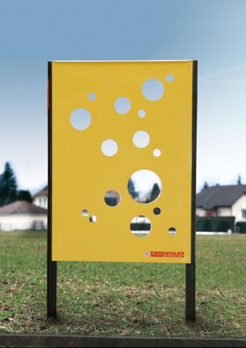 Рекламный щит от Swiss Publicis для Эминталь