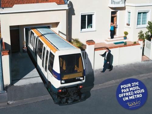 Рекламная кампания месячных проездных билетов на общественный транспорт от DDB Nouveau Monde