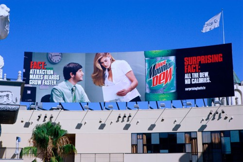 Билборд для Diet Mountain Dew от BBDO