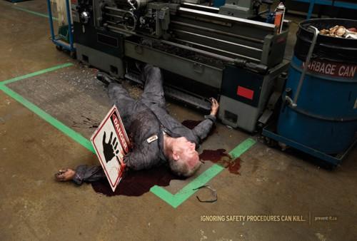 Социальная реклама от Workplace Safety & Insurance Board и агентства DRAFTFCB