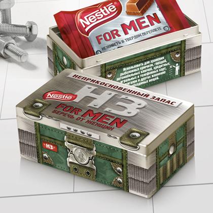 Упаковка от «Ауксе Кей Пятрас» для Nestle