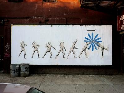 Рекламу заменили искусством