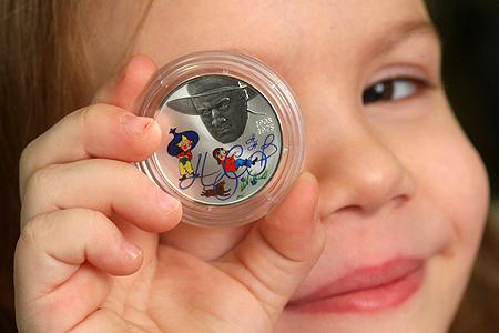 монета россии со знаком