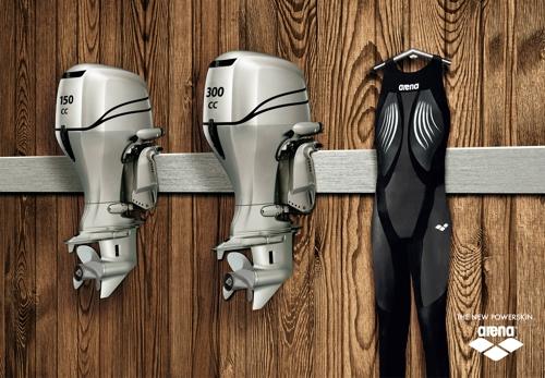 Печатная кампания плавательных костюмов Arena