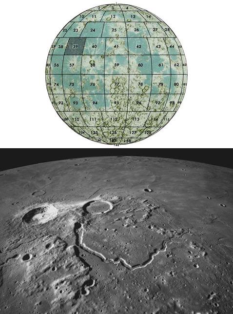 Плато и кратер Аристарх (фото сделано с корабля Apollo 15) – одно из мест, намеченных Moonpublicity в качестве возможной рекламной площадки (иллюстрация Moonpublicity, фото с сайта the-moon.wikispaces.com).