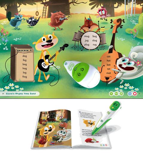 Так выглядит типичная страничка с играми. На ней расположено несколько элементов, реагирующих на прикосновения Tag и Tag Junior (иллюстрация с сайта blogcdn.com).