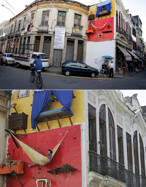 В попытке вывести искусство на улицы галерея собирается менять интерьер каждые четыре месяца. Интересно, будут ли меняться жильцы (фото с сайта likecool.com).