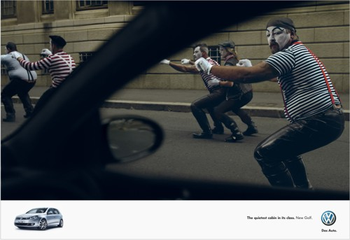 Volkswagen Golf, агентство Ogilvy, байкер, автомобиль, салон