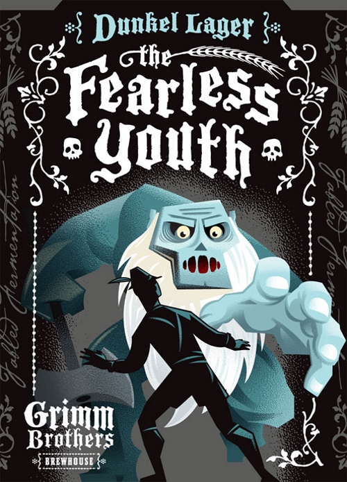 Этикетка пива Grimm Brothers Brewhouse - Fearless Youth