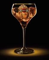 Новогодние коктейли: Martini Gold Royale королевский коктейль.