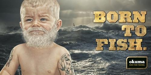 Реклама новозеландского производителя рыболовных снастей, Barnes, Catmur & Friends Auckland,