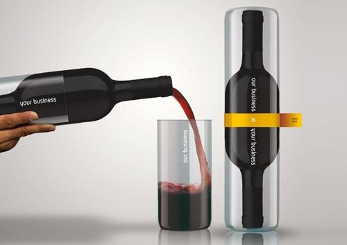 Бутылка вина - два в одной.