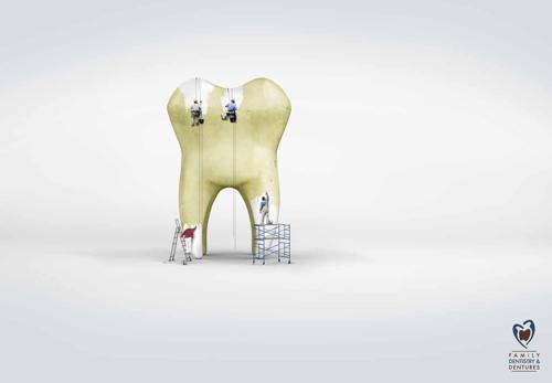 Реклама стоматологической компании Clermont
