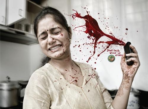 Жесткая социальная кампания от дорожной полиции города Бангалор