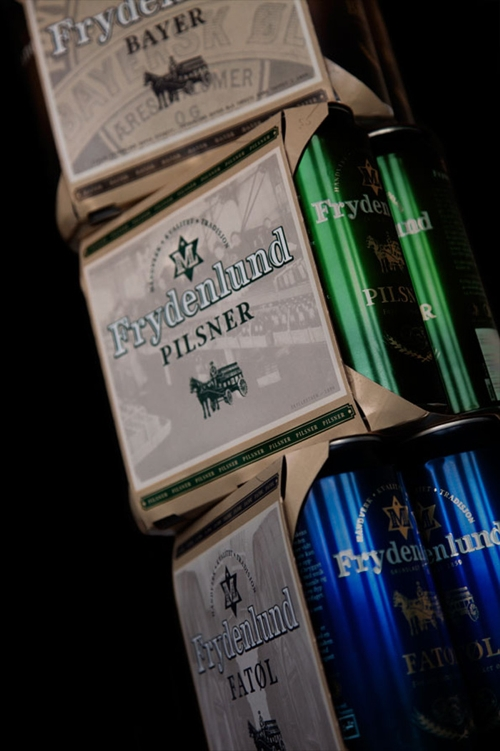 дизайн традиционного норвежского пива Frydenlund от FRANK