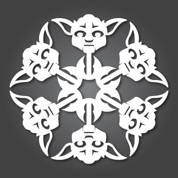 Снежинки в стиле «Звездных