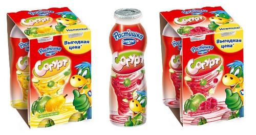 Новая товарная категория Danone для детей - сок с йогуртом - получила странный нейминг