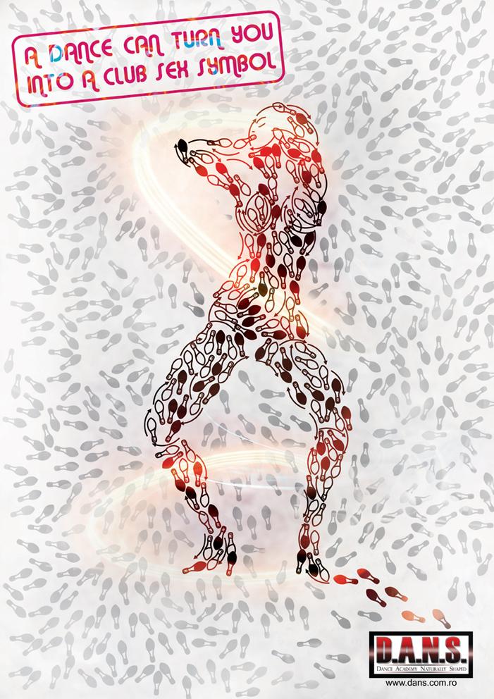 в виде схемы движения ног