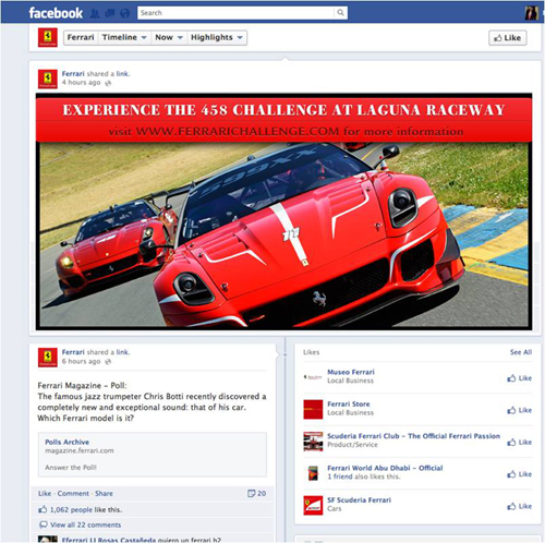 Ferrari 458 challenge, GLOBAL POINT N&Y, digital-кампания