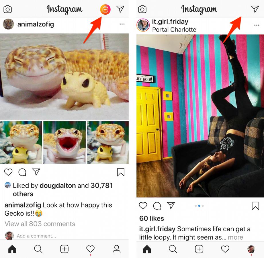 Картинки по запросу Instagram убрал кнопку IGTV из своего приложения