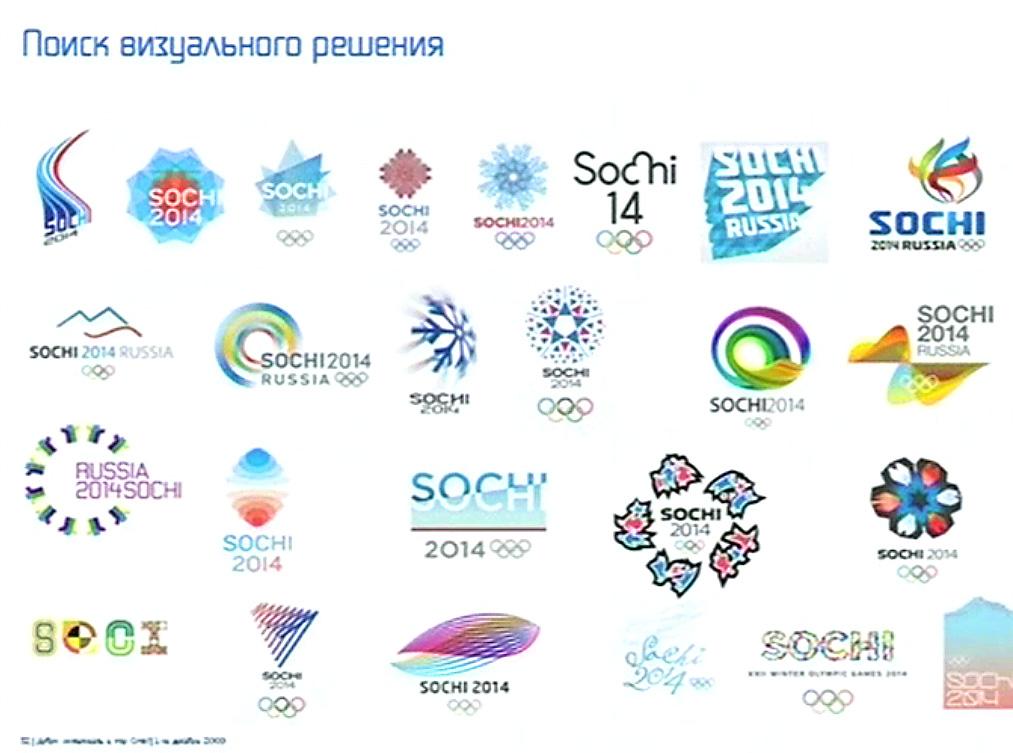 Логотип Олимпиады в Сочи.